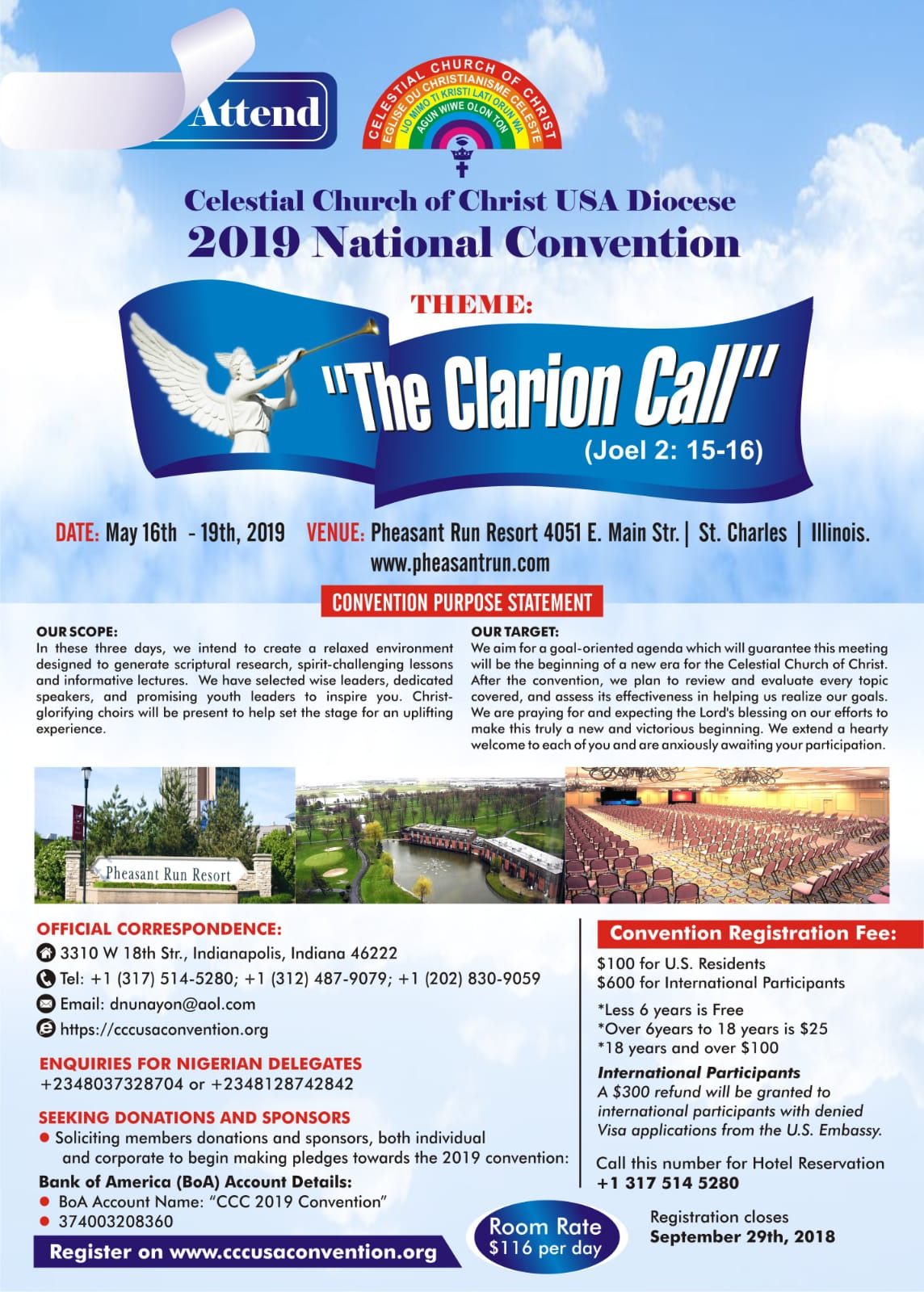 CCC USA Convention – THE CLARION CALL – CCC USA National Convention 2019